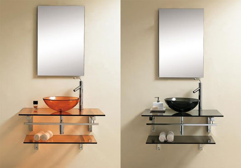 A glass vanity will guarantee